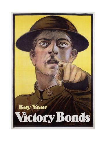 Buy Your Victory Bonds Poster Stampa giclée