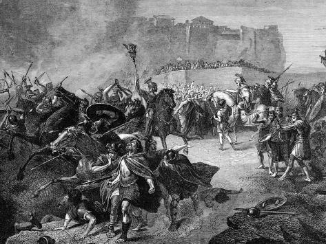 Byzantine General Belisarius Entering Rome after Defeating the Visigoths Valokuvavedos