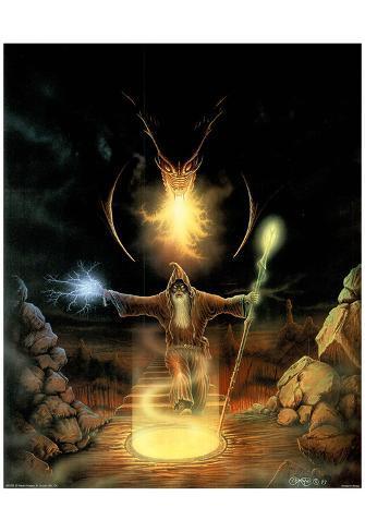 c b pope dragon wizard art print poster posters at