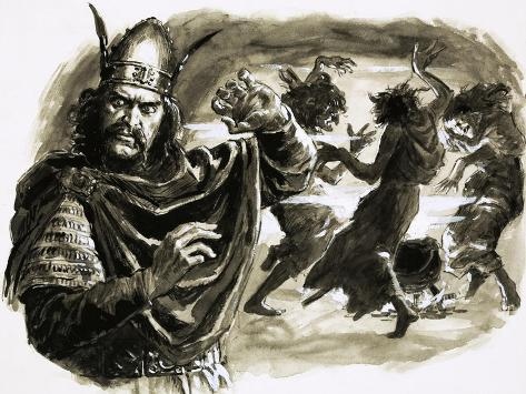 true villainy depicted in shakespeare's macbeth Nevertheless shakespeare keeps this character ambiguous, the fact that othello is unable to stab him leaves the audience wondering the nature of iago's villainy and evil linking him closer to the devil.