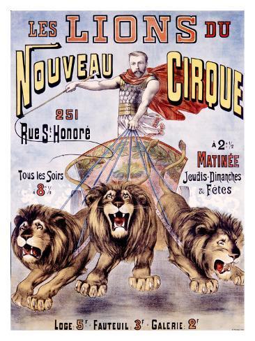 Les Lions du Nouveau Cirque Giclee Print