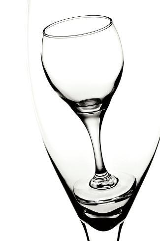 Graphic Wine Glasses Impressão fotográfica