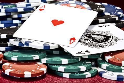 Poker Hand I Impressão fotográfica