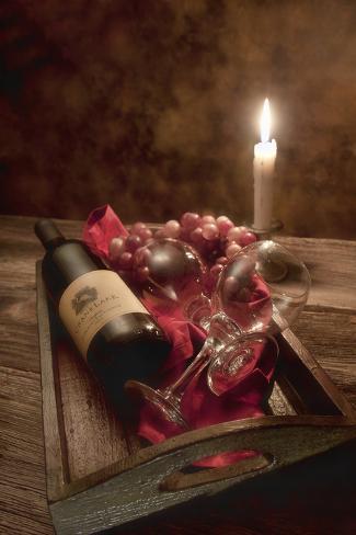 Wine by Candlelight I Impressão fotográfica