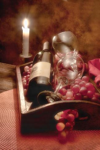 Wine by Candlelight II Impressão fotográfica