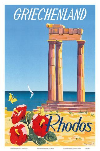 Rhodos: Griechenland, Greece c.1954 Art Print