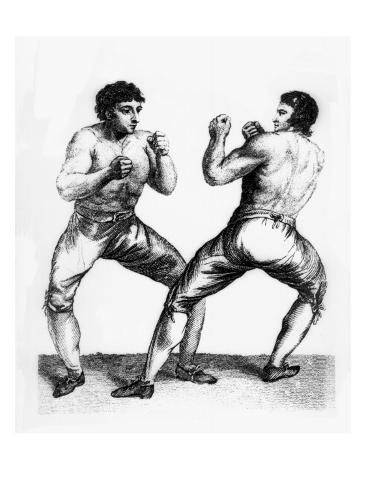 Boxing Match Between Daniel Mendoza and Richard Humphreys, 29th September 1790 Stretched Canvas Print