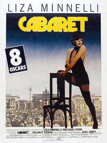 Cabaret, French poster, Liza Minnelli, 1972 Premium Giclee Print