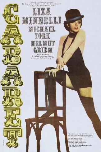 Cabaret, Italian poster, Liza Minnelli, 1972 Art Print