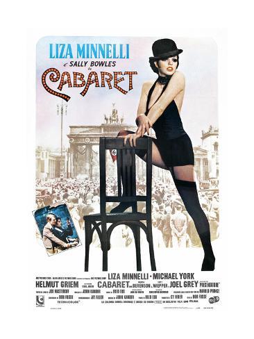 Cabaret, Italian Poster, Liza Minnelli, Michael York, Liza Minnelli, 1972 Impressão giclée