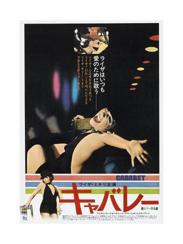 Cabaret, Japanese poster, Michael York, Liza Minnelli, 1972 Stampa artistica