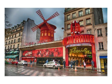 Cabaret Place Pigalle in Paris Art Print