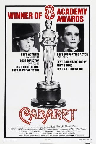 Cabaret, US poster, Liza Minnelli, Joel Grey, 1972 Art Print