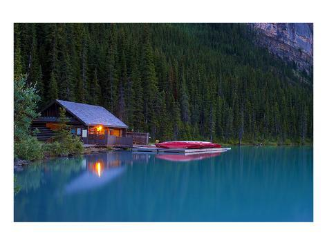 Cabin By The Lake Posters At Allposters Com