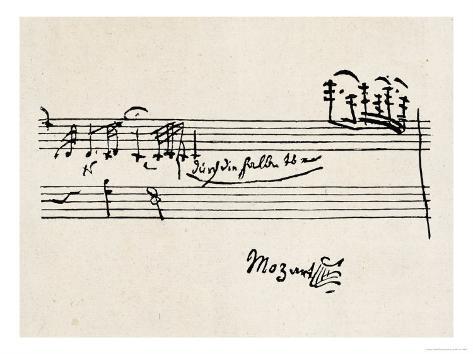 Cadenza, with Mozarts Signature Giclee Print