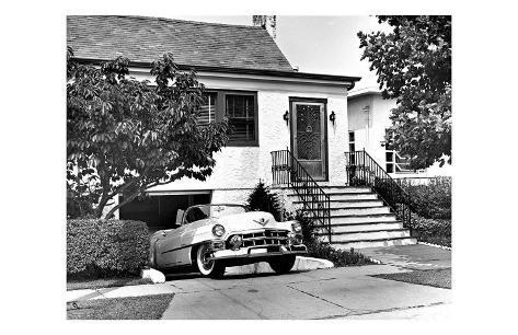 Cadillac Convertible Framed Giclee Print