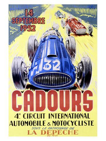 Cadours Circuit International Giclee Print