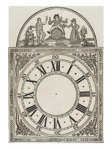 Cadran d'horloge Stretched Canvas Print