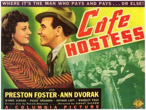 Cafe Hostess, 1940 Art Print