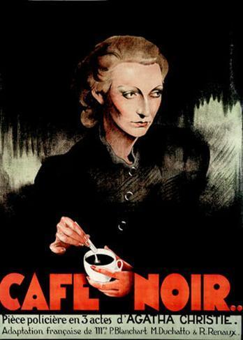 Café Noir Impressão artística emoldurada