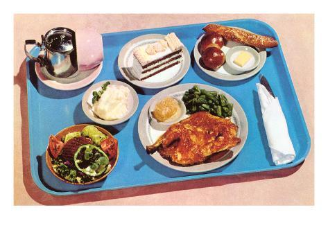 Cafeteria Lunch Tray, Retro Art Print