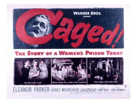 Caged, Eleanor Parker, Agnes Moorehead, Hope Emerson, 1950 Photo