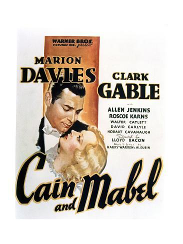 Cain and Mabel - Movie Poster Reproduction Premium Giclee Print
