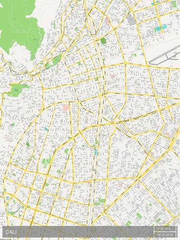Cali colombia map prints by allposters cali colombia map publicscrutiny Image collections