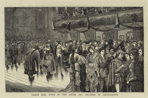 Calico Ball Given by the Mayor and Mayoress of Southampton Stampa giclée