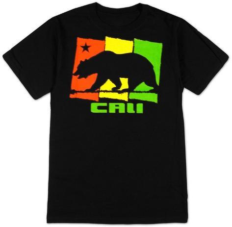 California cali rasta t shirt at for Shirt printing stockton ca