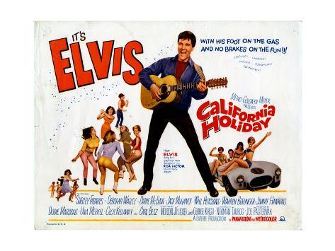 California Holiday (aka Spinout), Elvis Presley, 1966 ジクレープリント