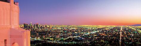 California-Los Angeles Cityscape Poster