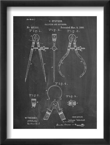 Caliper And Divider Tool Patent Framed Art Print