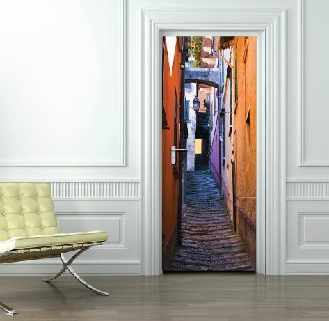 Calles de italia papel pintado para las puertas mural de papel pintado en - Papel pintado para puertas ...