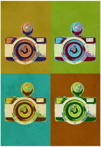 Camera Vintage Style Pop Art Poster Poster