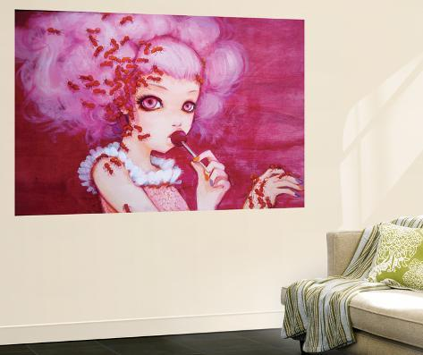 Cotton Candy Curly Cue Wall Mural