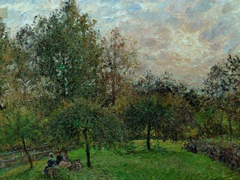 Apple Trees and Poplars in a Sunset, 1901 Giclee Print