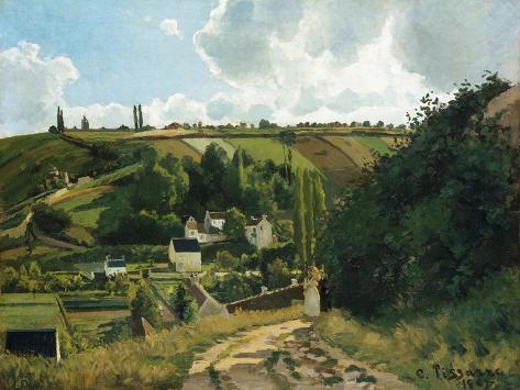 Jalais Hill at Pontoise, 1867 Lámina giclée