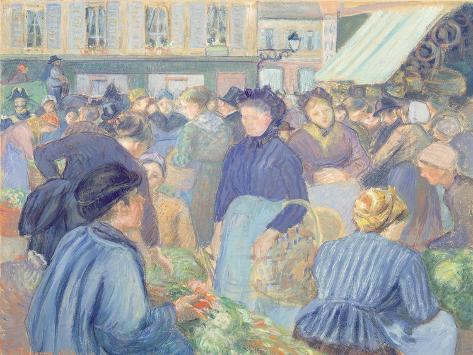 Le Marche de Gisors, 1889 Lámina giclée