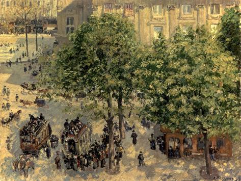 Place Du Theatre Francais, 1898 Premium Giclee Print