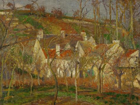 Red Roofs, a Village Corner, Winter, 1877 Giclee Print
