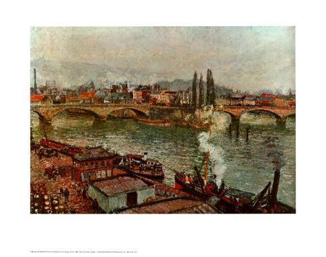 Stone Bridge Rouen Art Print