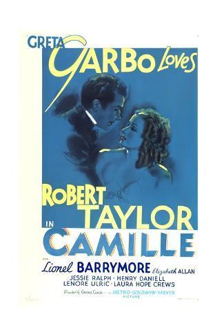 Camille, Robert Taylor, Greta Garbo, 1936 Art Print