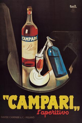 Campari l'Aperitivo Pingotettu canvasvedos