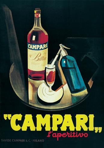 Campari - Vintage Style Advertisement Poster Poster