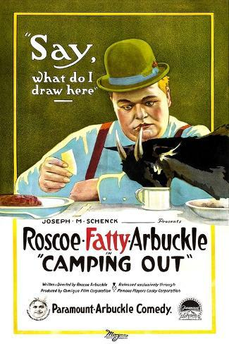 Camping Out, Roscoe 'Fatty' Arbuckle, 1919 Art Print