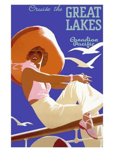 Canadian Pacific Great Lakes Cruise Giclee Print