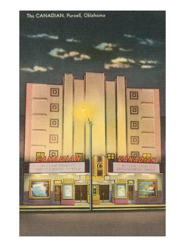 Canadian Theater, Purcell, Oklahoma Art Print