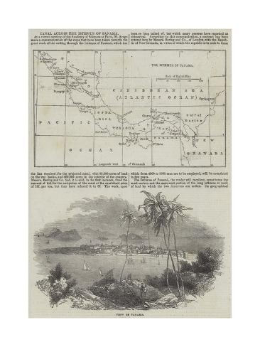 canal across the isthmus of panama giclee print allposters ca