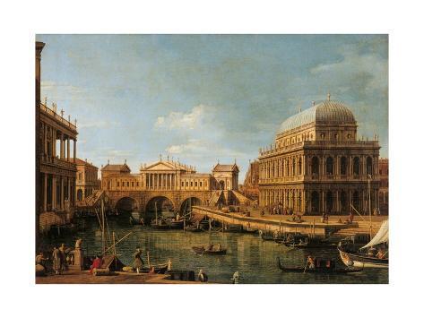 Capriccio with Palladian Buildings Art Print
